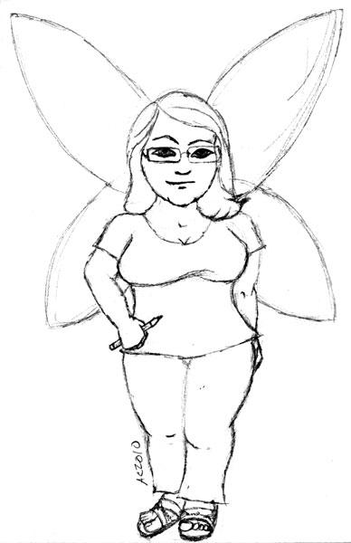 Skaja Wills, sketch 3, by Amy Crook