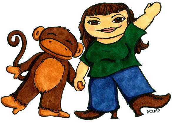 Leila Lloyd-Evelyn and Her Monkey by Amy Crook