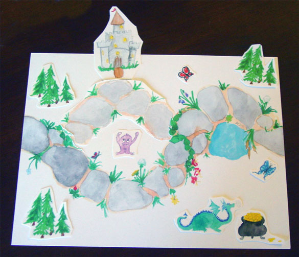 Fairytale Path by Amy Crook, for Tara Swiger's Map-Making Guide