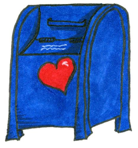 Postbox by Amy Crook for Elizabeth Halt